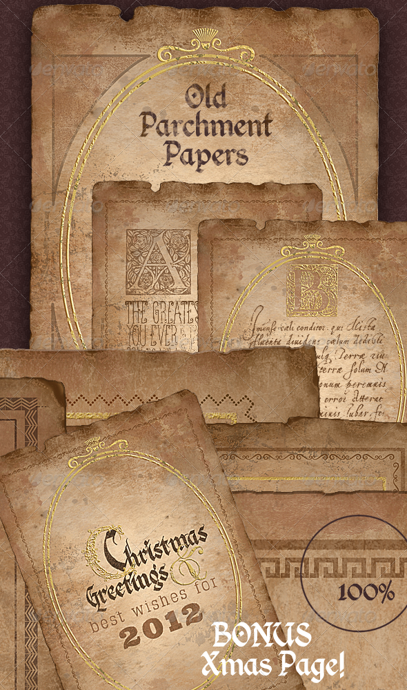 Vintage Parchment Paper Historical Documents