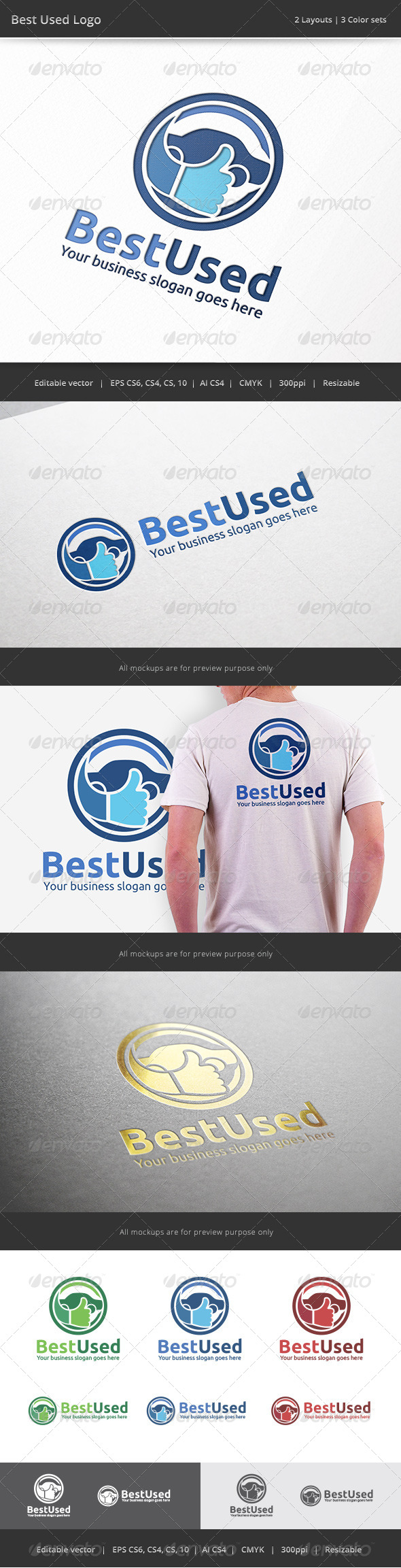 GraphicRiver Best Used Car Logo 7599929