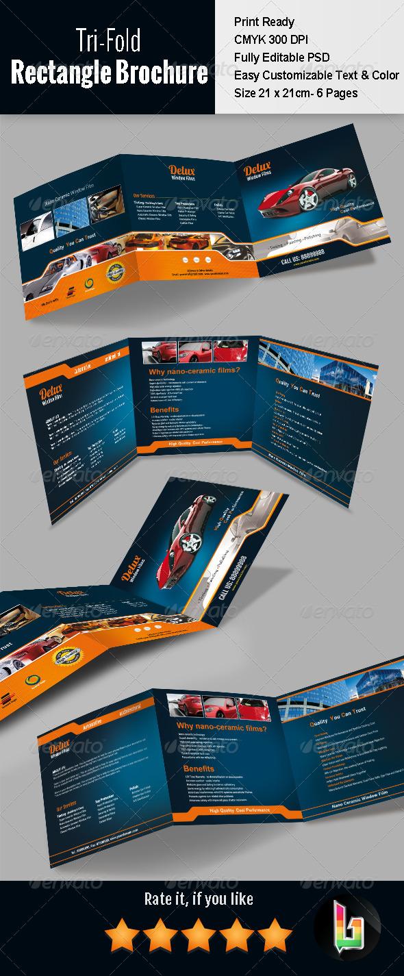 GraphicRiver Tri-fold Rectangle Brochure 7594687