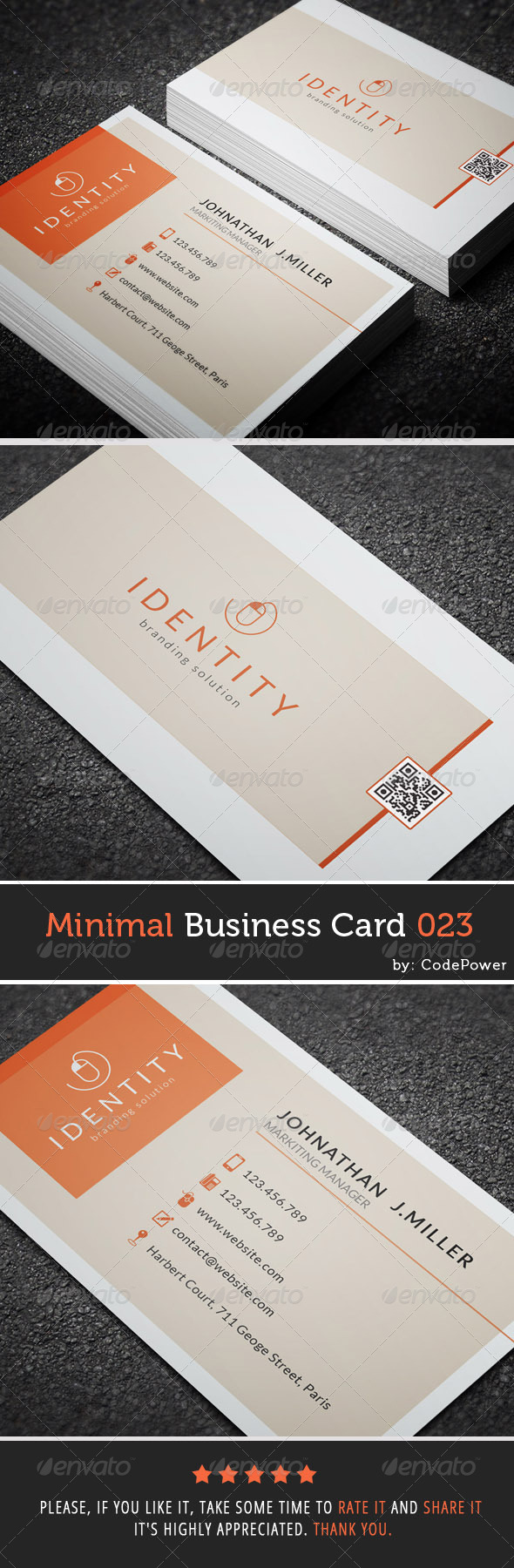 GraphicRiver Minimal Business Card 023 7600414