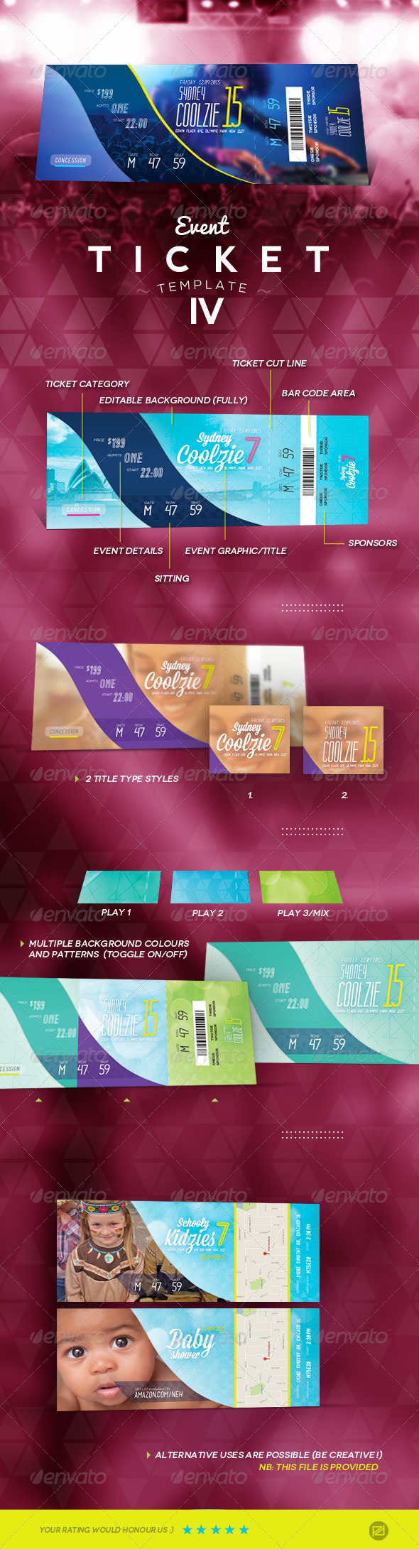 GraphicRiver Event Ticket Template IV 7600463