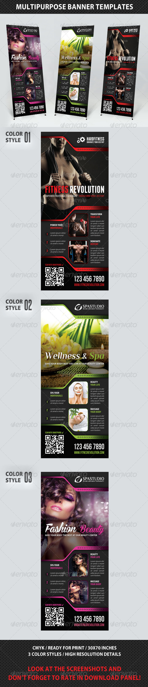 GraphicRiver Multipurpose Banner Template V01 7600708