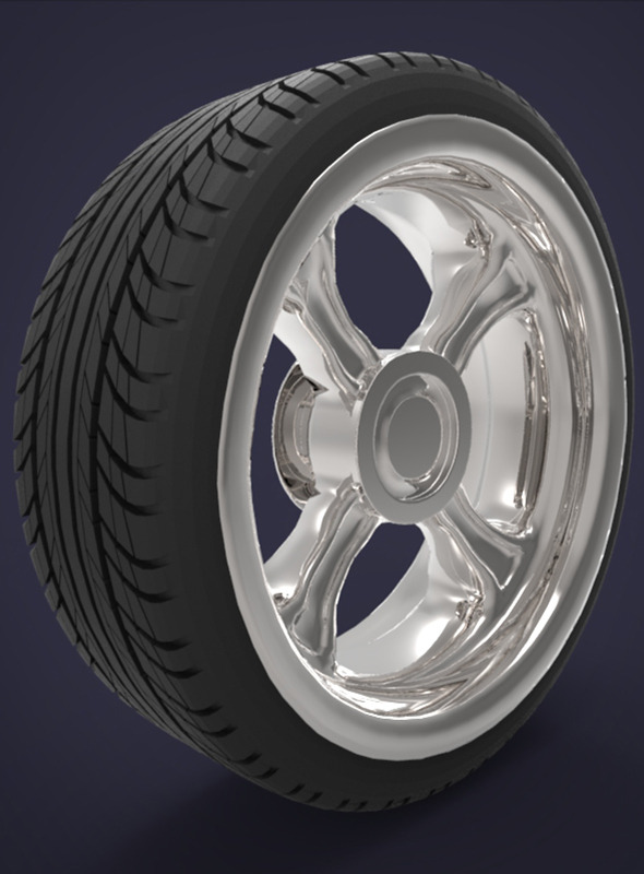 3d tire and wheel - 3DOcean Item for Sale