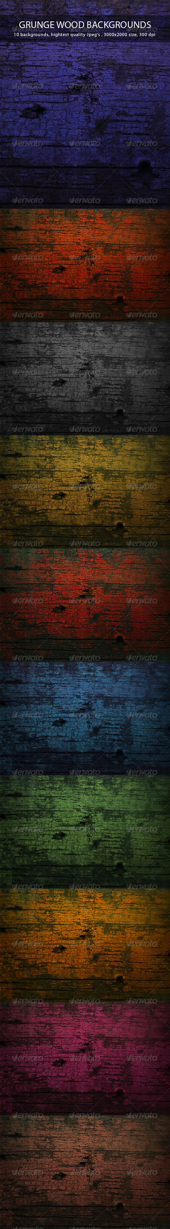 GraphicRiver Grunge Wood Backgrounds 7600830