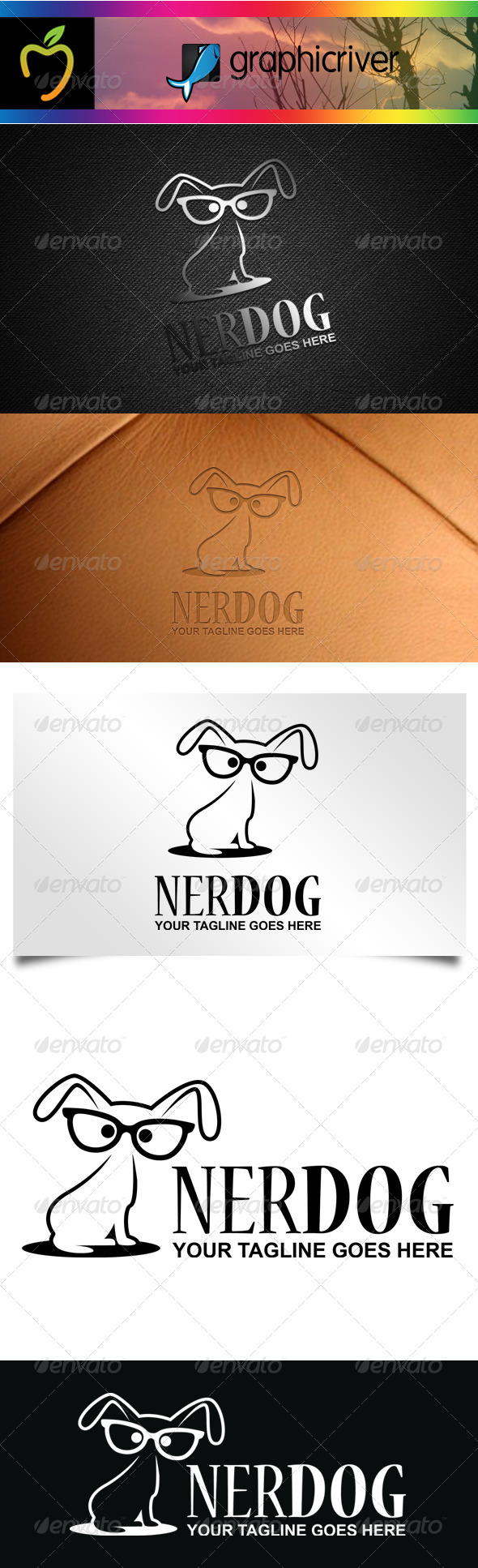 GraphicRiver Nerd Dog Logo 7600835