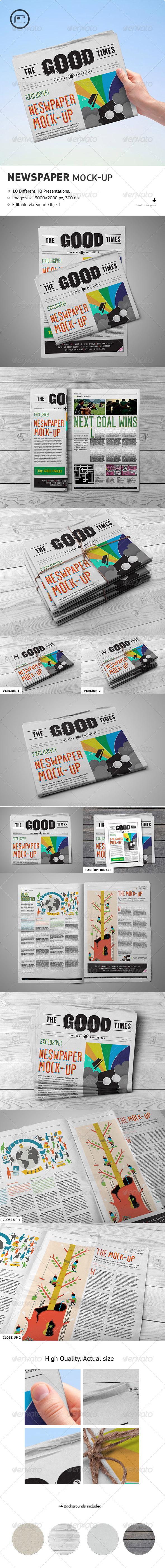GraphicRiver Newspaper Mock-up Vol.2 7600839