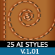 25 Working Illustrator Styles v 1.01