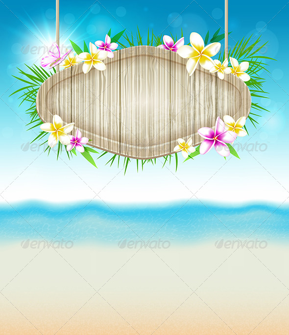 GraphicRiver Summer Tropical Background 7601255