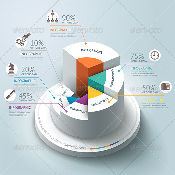GraphicRiver Business Infographics Step Circle Template 7601851