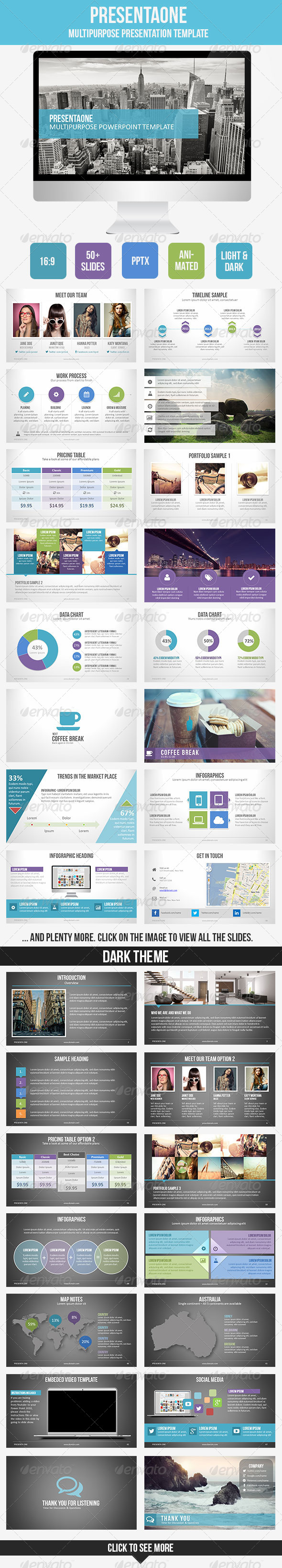 GraphicRiver PresentaOne PowerPoint Template 7602014