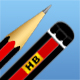 Detailed lead pencil + icons - GraphicRiver Item for Sale