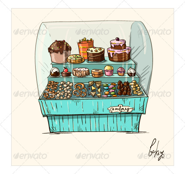 GraphicRiver Counter with Bakery 7602360