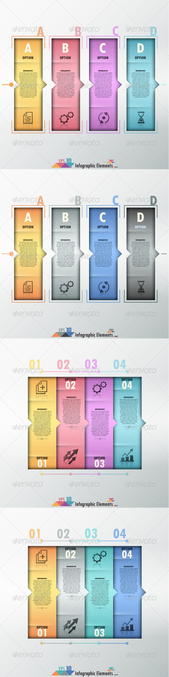 GraphicRiver Modern Infographic Options Banner Four Versions 7584145