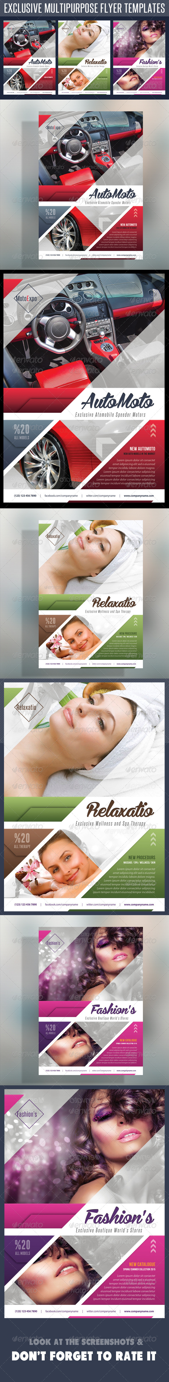 Multipurpose Product Flyer V01 - Flyers Print Templates