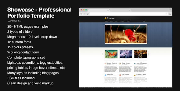 Showcase - Professional Portfolio Template