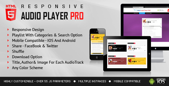 CodeCanyon Responsive HTML5 Audio Player PRO With Playlist 7602488