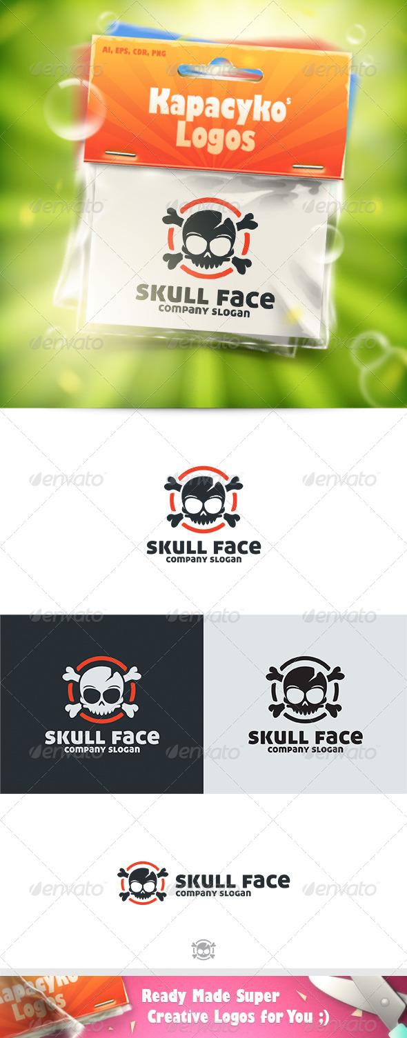 GraphicRiver Skull Face Logo 7602546