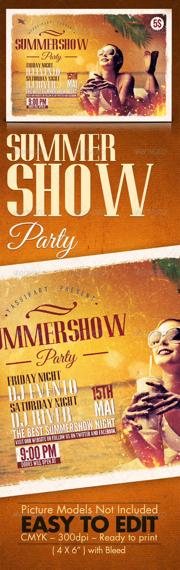 GraphicRiver Summer Show Party Template 7595725