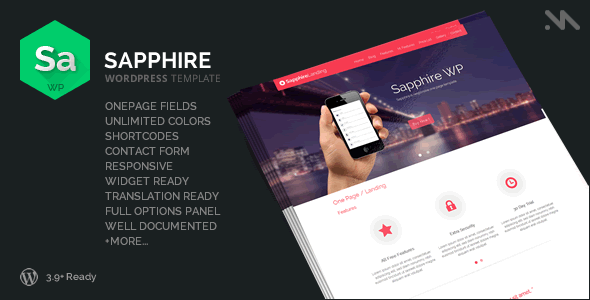 Sapphire One Page Wordpress Template