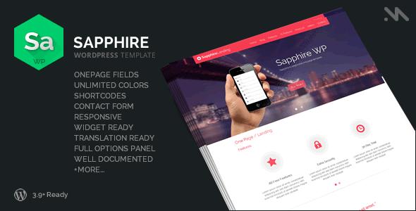 Sapphire - One Page Wordpress Template - Miscellaneous WordPress
