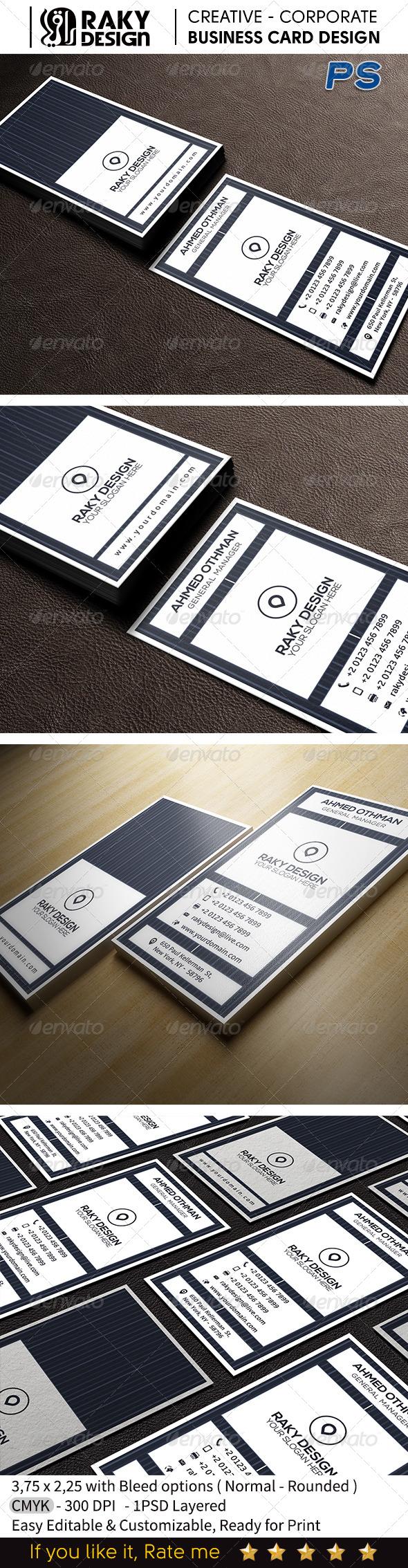 GraphicRiver Corporate Business Card V12 7603270