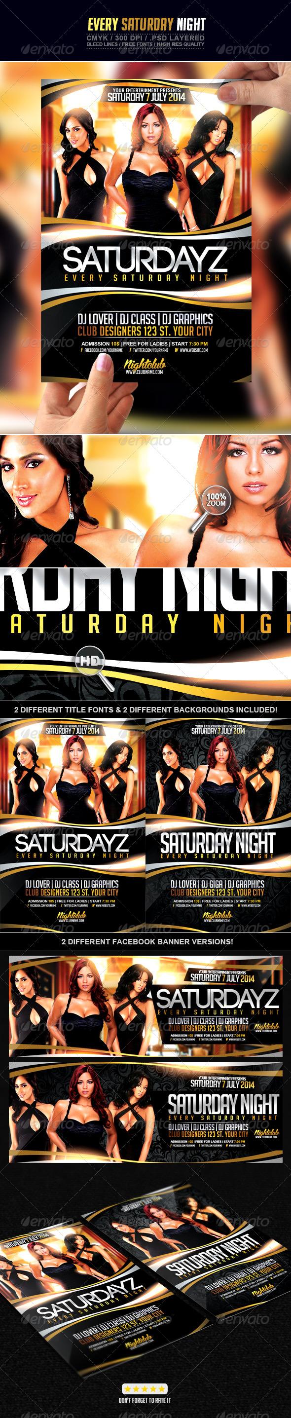 GraphicRiver Every Saturday Night 7603299