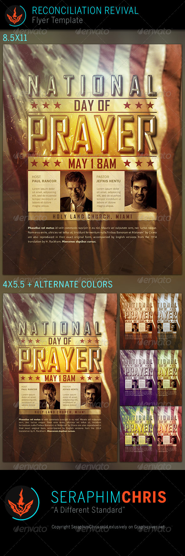 GraphicRiver National Day of Prayer Church Flyer Template 7603412