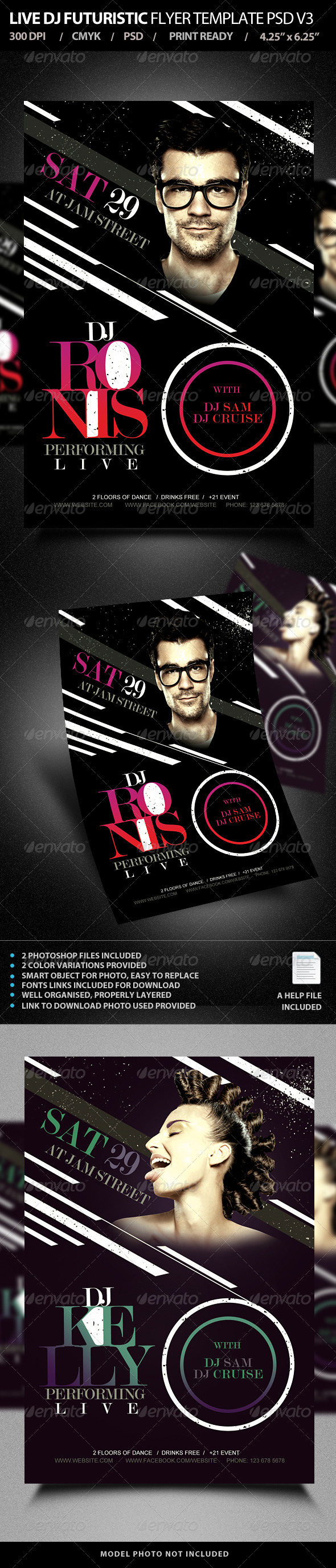 GraphicRiver Live DJ Flyer Template PSD V3 7603790