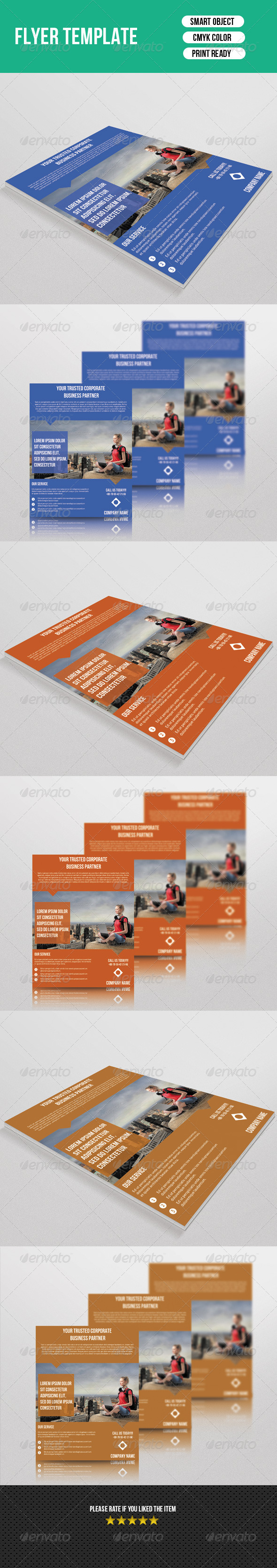 GraphicRiver Business Flyer Template 7603792
