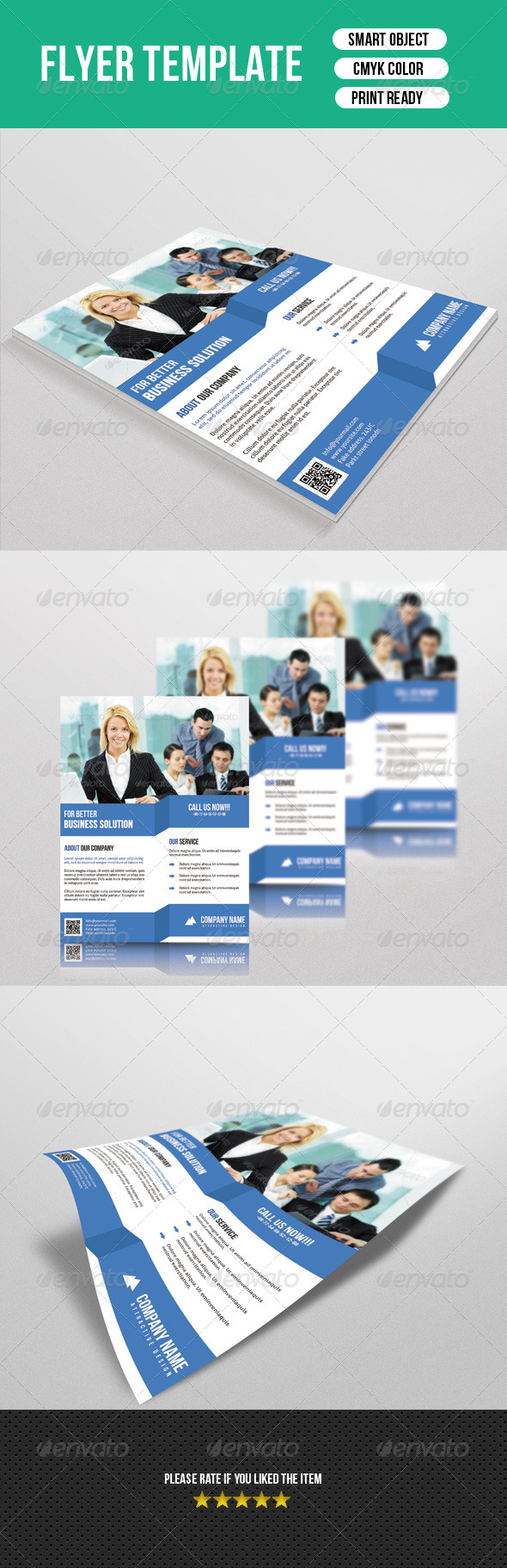 GraphicRiver Clean Business Flyer 7603896
