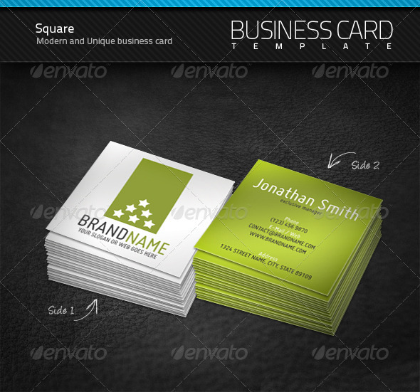 Gallery For Square Business Card Size
