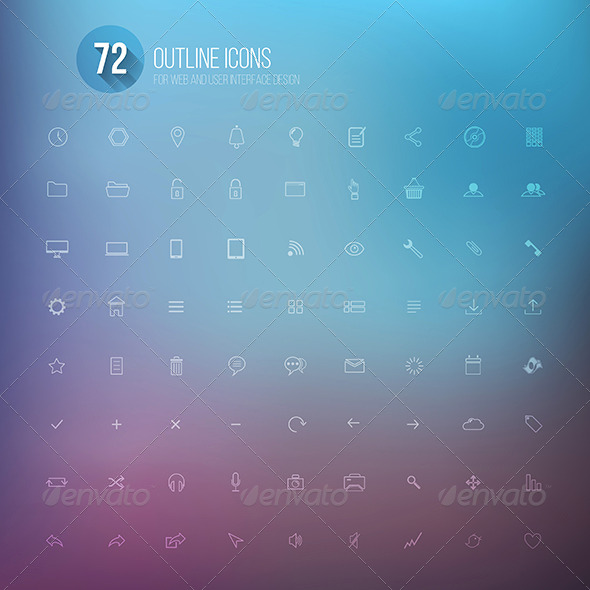 GraphicRiver Set of Icons for Mobile App and Web 7603949