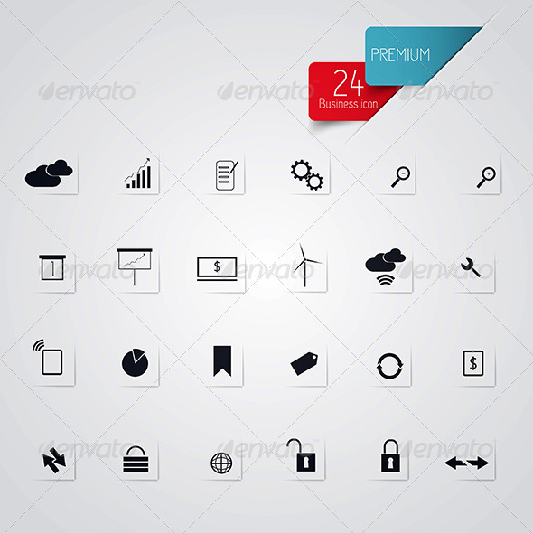 GraphicRiver Set of Web Icons for Business 7603978