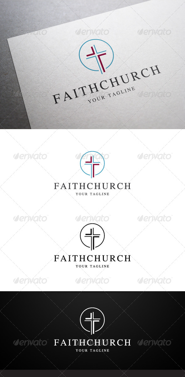 GraphicRiver Faith Church Logo 7604000