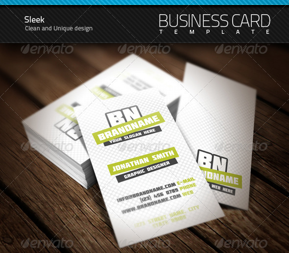 GraphicRiver Sleek Business Card 470200