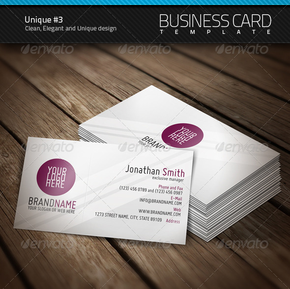 GraphicRiver Unique Business Card #3 406733