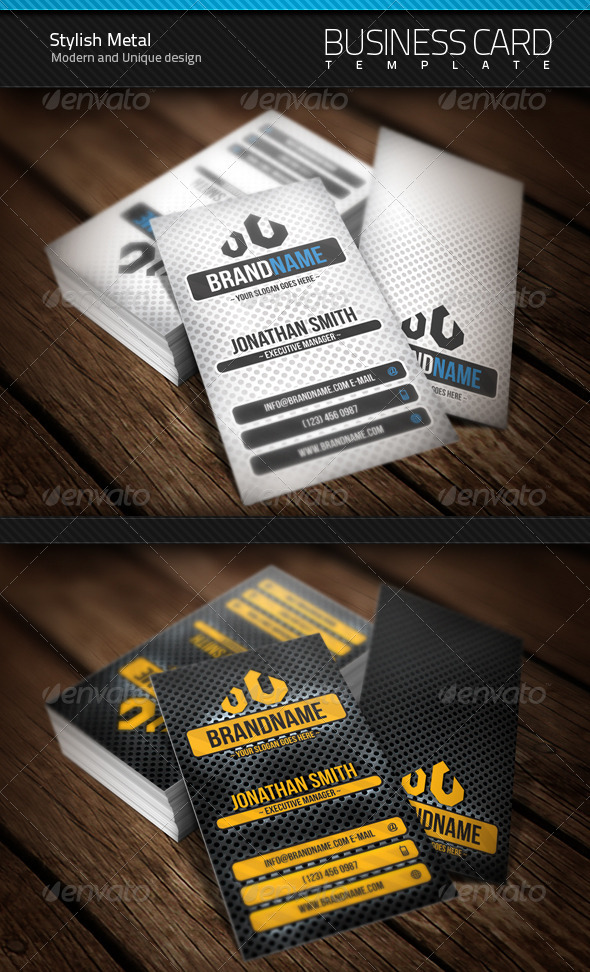 GraphicRiver Stylish Metal Business Card 400823