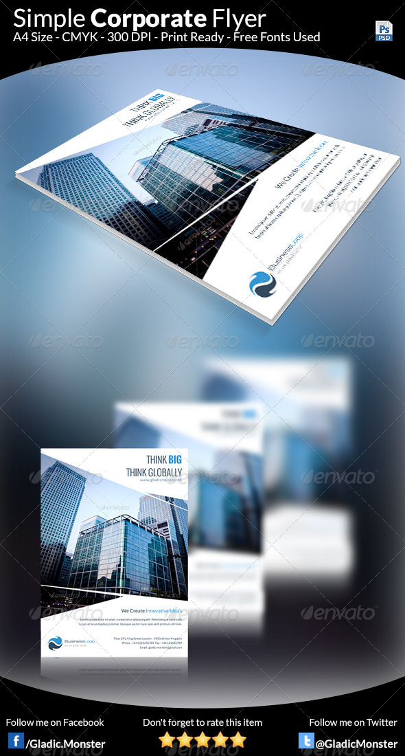 GraphicRiver Simple Multipurpose Flyer 7604566