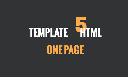 One Page HTML 5