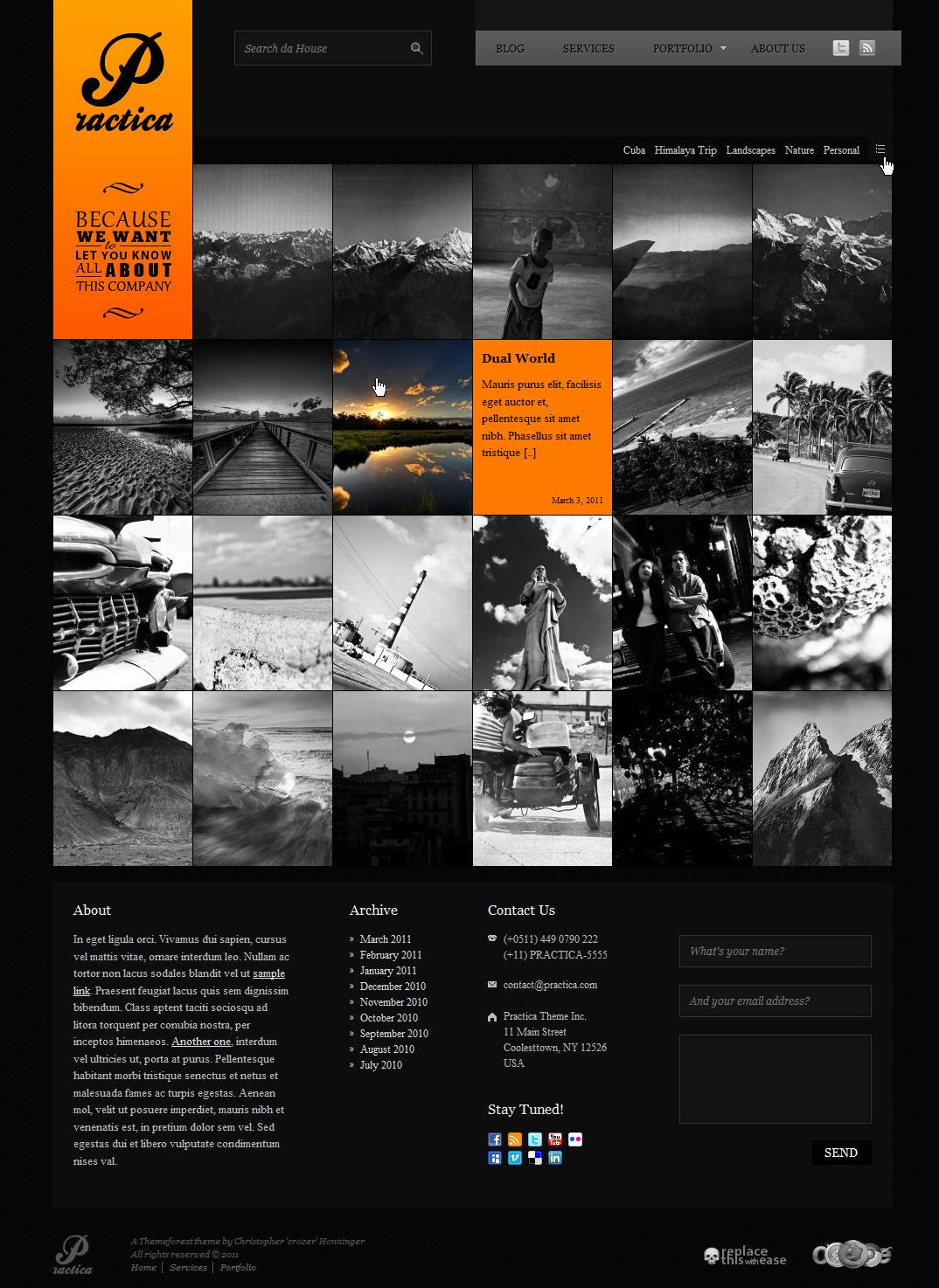 Practica Portfolio - Sophisticated WordPress Theme