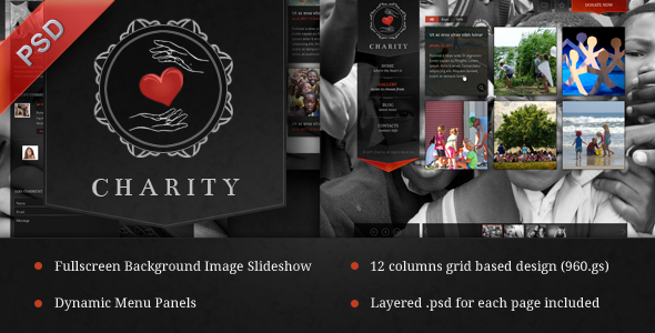 ThemeForest Charity PSD Template 780595