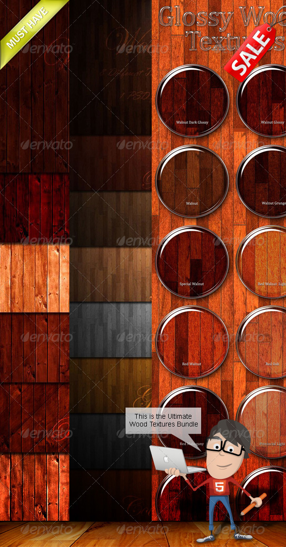 3DOcean Wood Textures Bundle 780606
