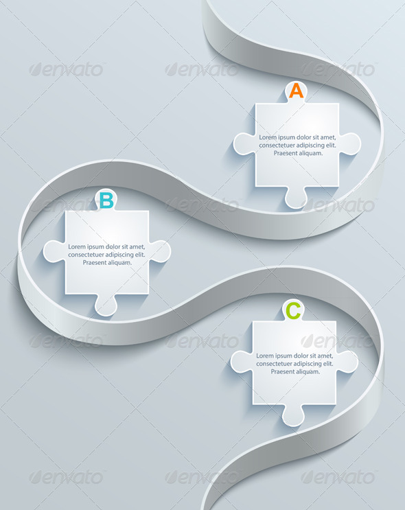 GraphicRiver Abstract Part of Puzzles 7604870