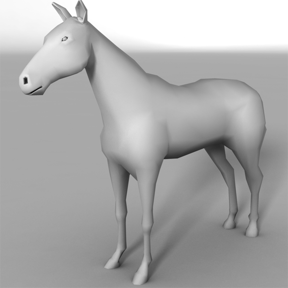 Low Poly Horse Base Mesh - 3DOcean Item for Sale