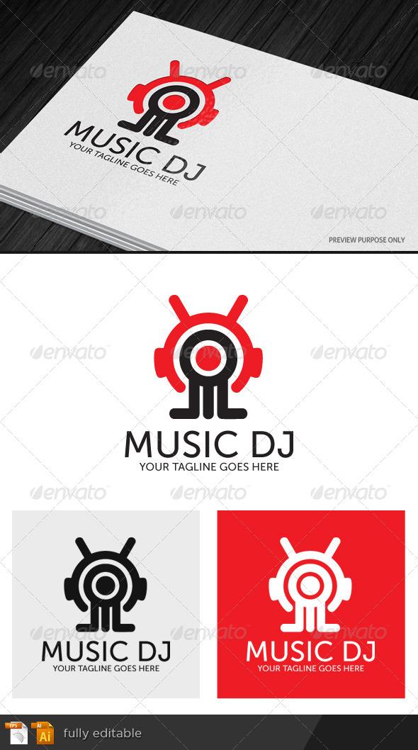 GraphicRiver Music DJ Logo 7605269