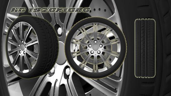 3D Animated Wheel 4