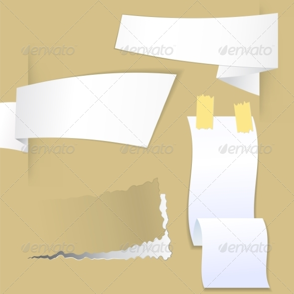 GraphicRiver Collection with Various Pieces of Paper 7605369