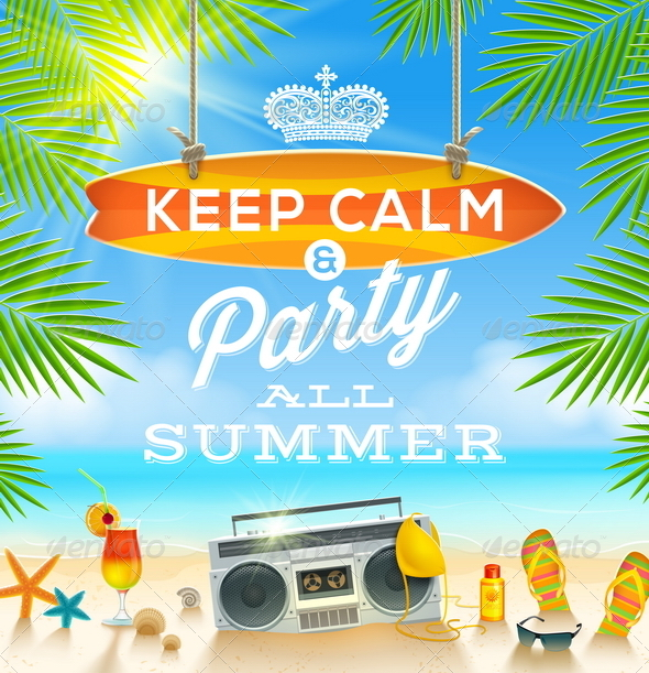 GraphicRiver Summer Holidays Greeting Design 7605384