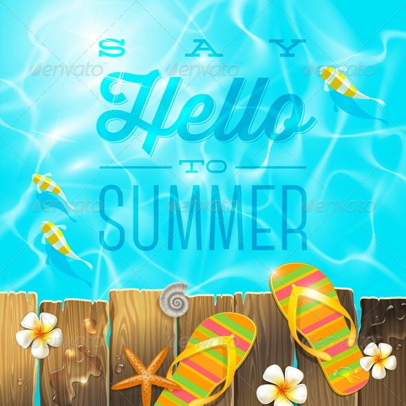 GraphicRiver Tropical Summer Vacation Design 7605393