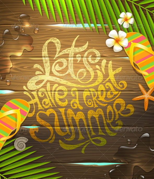 GraphicRiver Summer Holidays Illustration 7605427